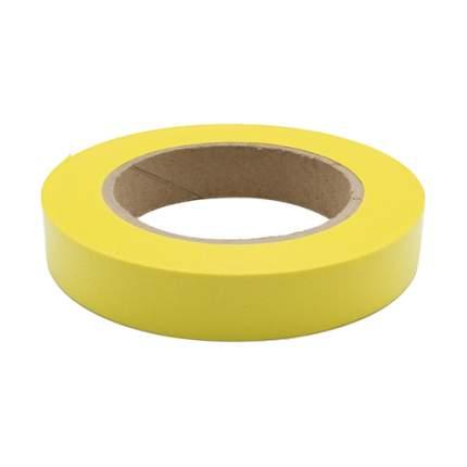 Лента простая однотонная, гладкая, цвет: Р295 желтый, 2 см x 50 см, арт. 59613