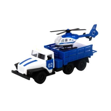 Набор машин спецслужб Технопарк УРАЛ + Вертолет