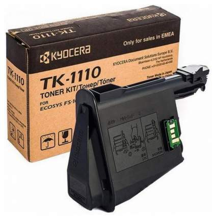 Картридж для лазерного принтера Kyocera TK-1110, черный, оригинал