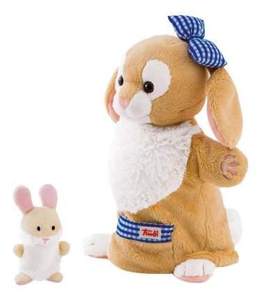 Мягкая игрушка Trudi на руку Зайчиха с зайчонком, 28 см