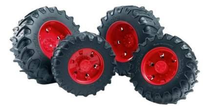 Шины Bruder для сдвоенных колёс с красными дисками 4 шт. 12,5 см
