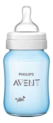 Детская бутылочка Philips Avent Classic+ SCF573/14 для мальчиков, 260 мл, 1 шт., 1 мес.+