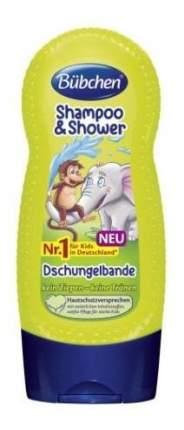 """Шампунь для мытья волос и тела bubchen """"джунгли зовут"""", 230 мл"""