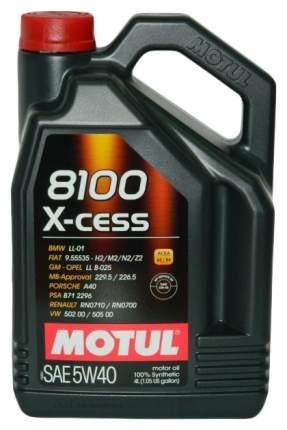 Масло моторное Motul 8100 X-cess 5w-40 4l