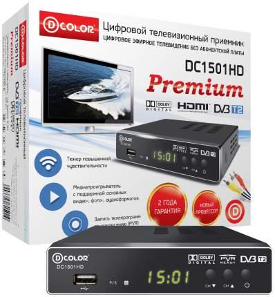 DVB-T2 приставка D-COLOR DC1501HD black
