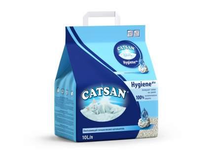 Наполнитель для кошачьего туалета Catsan Hygiene Plus, впитывающий, 10 л, 4,84 кг