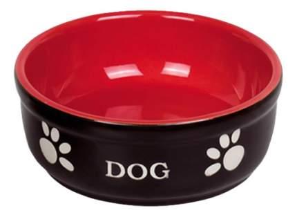 Одинарная миска для собак Nobby, керамика, черный, красный, 0.5 л