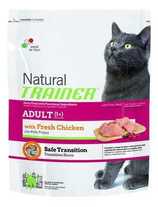 Сухой корм для кошек TRAINER Natural Adult, курица, 0,3кг
