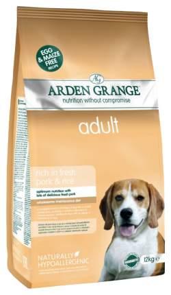 Сухой корм для собак Arden Grange Adult, свинина, рис, 12кг