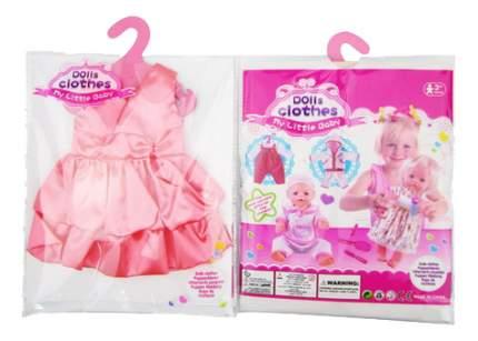 Платья и юбки для кукол Junfa toys атласное розовое GCM18-12