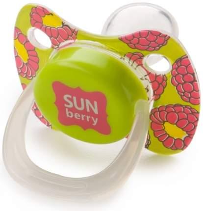 Силиконовая соска-пустышка с колпачком Happy Baby Baby Pacifier симметричной формы, Lime