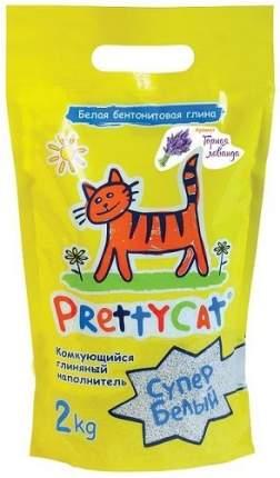 Комкующийся наполнитель для кошек PrettyCat Супер белый бентонитовый, лаванда, 2 кг