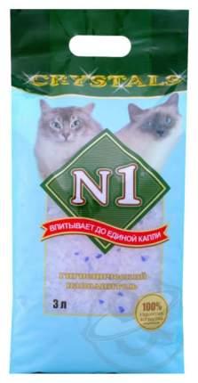 Впитывающий наполнитель для кошек №1 Crystals силикагелевый, 1.75 кг, 3 л