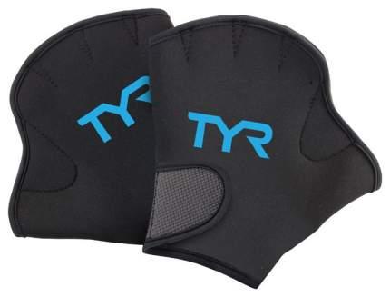 Перчатки для аквааэробики TYR Aquatic Resistance Gloves LAQGLV черные M