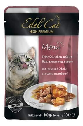 Влажный корм для кошек Edel Cat, лосось, рыба, 100г