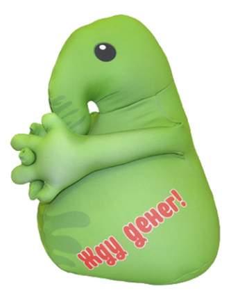 Игрушка-антистресс Оранжевый кот Хочун мини зеленый