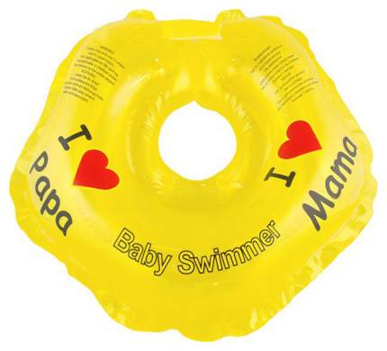 Круг для купания на шею Baby Swimmer Я люблю BS21Y Желтый