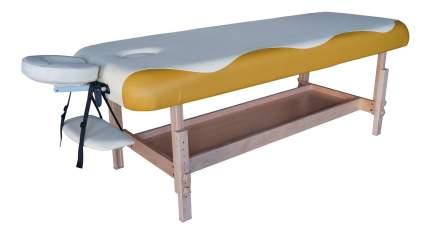 Массажный стол стационарный DFC Superior white/yellow