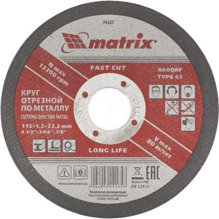 Диск отрезной абразивный MATRIX 115 х 1,2 х 22 мм 74327