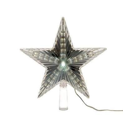 Kaemingk Светящаяся звезда на елку Волшебная 22 см холодная белая 31 LED лампа 495203