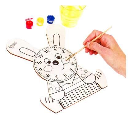 Раскраска Десятое Королевство Деревянные часы с красками. Зайчонок