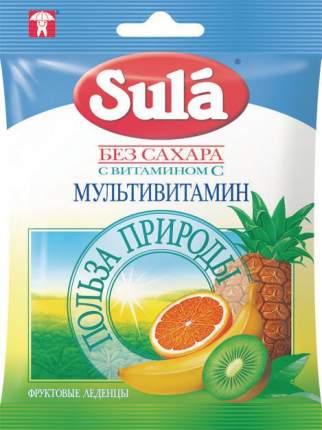Леденцы Sula без сахара с витамином С мультивитамин 60 г