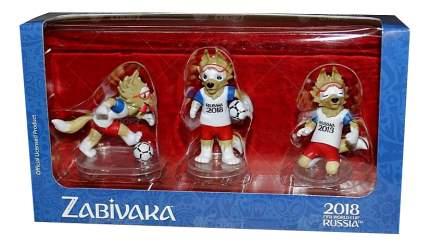 FIFA-2018 фигурки Zabivaka set №1(standard)6 см 3 шт в подарочной коробке