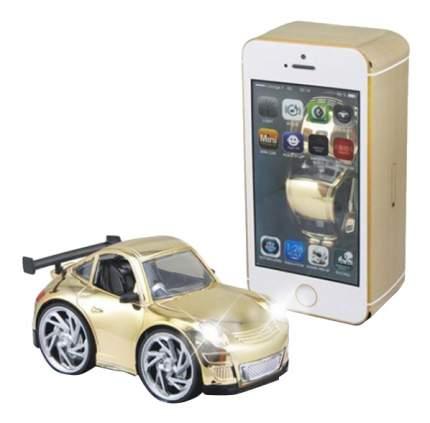 Машина в коробке-смартфоне золотая Shenzhen Toys В62499
