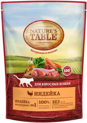Сухой корм для кошек Nature's Table, индейка, 0,19кг