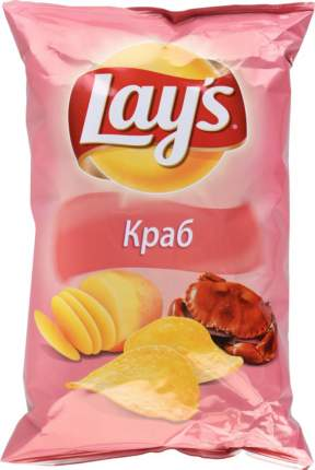 Картофельные чипсы Lay's краб 150 г