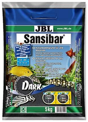 JBL Sansibar Dark - Декоративный грунт для аквариума, темный, 5 кг
