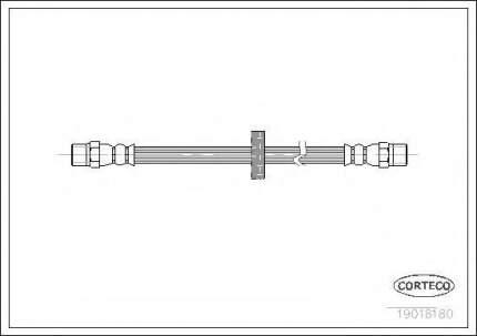 Шланг тормозной системы Corteco 19018180