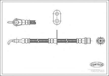 Шланг тормозной системы Corteco 19032583