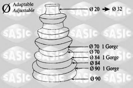 Пыльник шруса Sasic 1900001