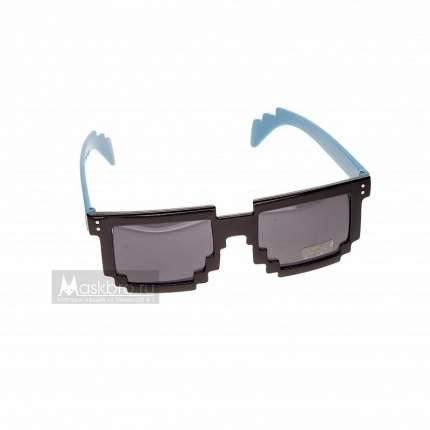 Пиксельные очки синие дужки