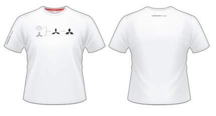 Мужская футболка Mitsubishi RU000008 History White