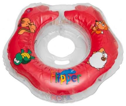 FLIPPER Круг на шею для купания малышей КРАСНЫЙ FL001-R