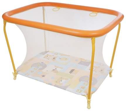 GLOBEX Манеж детский Классика (цвет: оранжевый) 1101