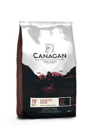 Сухой корм для кошек Canagan, беззерновой, утка, оленина и кролик, 375г