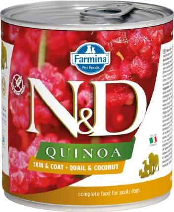 Влажный корм для собак Farmina N&D Quinoa, перепел и кокос, 285г