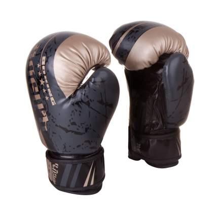 Боксерские перчатки БоецЪ BBG-03 черные 10 унций