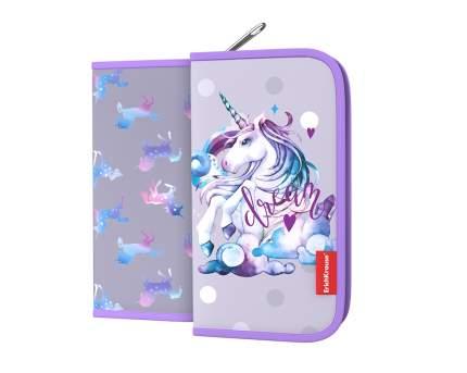 Пенал-книжка без наполнения ErichKrause® 110x205x25мм Dream Unicorn
