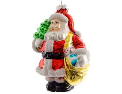 Елочная игрушка Kaemingk Санта с мешком подарков 120024 13 см 1 шт.