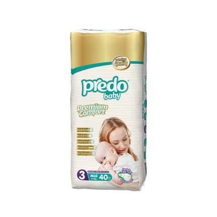 Подгузники Predo Baby Midi №3 Двойная пачка 40 шт. 4-9 кг