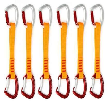 Набор оттяжек с карабинами Edelweiss Top Evo Quickdraws 22 см, желтый/красный, 6 шт.