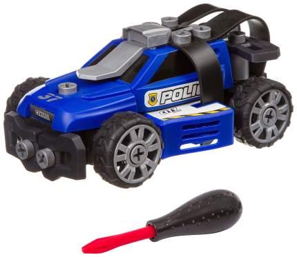 Машинка конструктор с отверткой, BONDIBON, «ПОЛИЦИЯ», синяя, BLISTER 27.5x13.5x23.2