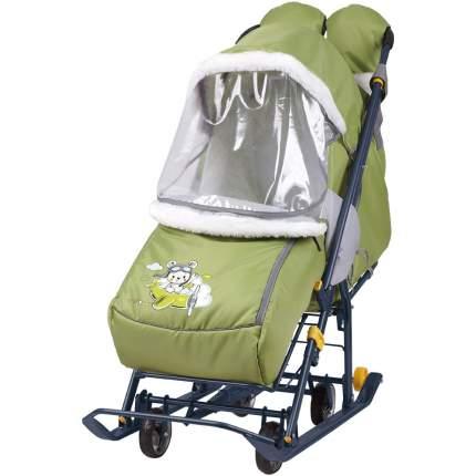Cанки-коляска Ника Наши детки 2 Летчик оливковый
