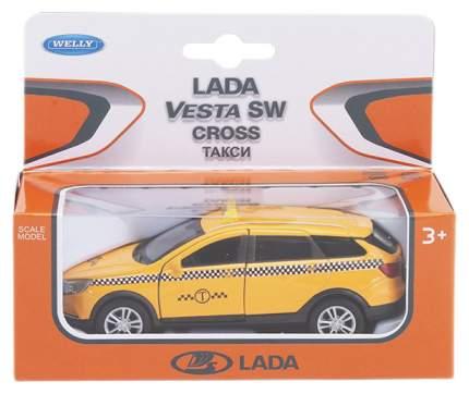 Welly 43763TI Велли Модель машины 1:34-39 LADA VESTA SW CROSS Такси