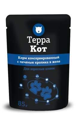 Влажный корм для кошек ТЕРРА КОТ, с печенью кролика в желе, 26шт по 85г