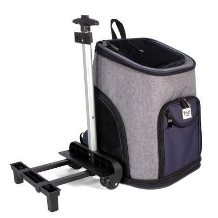 Сумка-рюкзак для животных Triol Трансформер, на колесах, 33x30x50 см